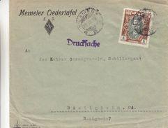 Lituanie - Lettre De 1928 ° - Imprimé - Oblit Klaipeda - Exp Vers Bietigheim En Allemagne - Lithuania