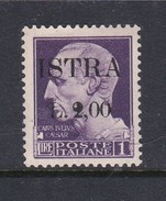 Venezia Giulia And Istria  S 36 1945  2 Lira On 1 Lia Violet Mint Hinged - Yugoslavian Occ.: Istria