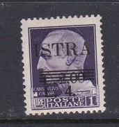 Venezia Giulia And Istria  S 37 1945 4lira On 2 Lira On 1 Lira Mint Hinged - Occ. Yougoslave: Istria