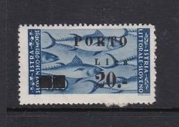 Istria Yugoslav Occupation Postage Due S18 1946 20 L On 20 L Azur Mint Hinged - Occ. Yougoslave: Littoral Slovène
