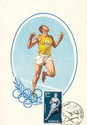 D30873 CARTE MAXIMUM CARD 1961 SPAIN - ATHLETICS RUNNING CP ORIGINAL - Athletics
