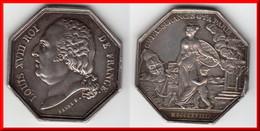 **** JETON LOUIS XVIII 1818 Cie D'ASSURANCES Gles A PARIS Par BARRE F. - ARGENT - SILVER **** EN ACHAT IMMEDIAT - Professionnels / De Société