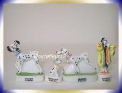 101 Dalmatiens Pré-série ... 4 Fèves  .. Ref AFF : 32-1998 .. ( Pan 0029) - Disney