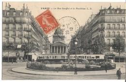 CPA - PARIS - RUE SOUFFLOT ET LE PANTHEON - Edition L.D. - Arrondissement: 05
