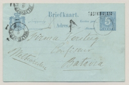 Nederlands Indië - 1892 - Langstempel TASIKMALAJA En KR GAROET Op Briefkaart Naar KR Weltevreden - Nederlands-Indië