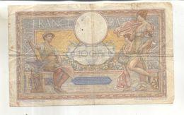 Billet Banque De France 100 Francs Merson 21 12 1933 (Billet Vendu Dans L'état) - 100 F 1908-1939 ''Luc Olivier Merson''