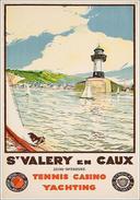 St.Valery En Caux Tennis-casino-yachting 1936 - Postcard - Poster Reproduction - Publicité