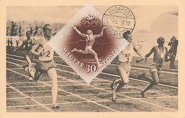 D30875 CARTE MAXIMUM CARD 1952 HUNGARY - ATHLETICS RUNNING FINISH OLYMPICS CP ORIGINAL - Athletics