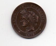 FRANCE 1872 TEN CENTIMES  USED COIN In Bronze Mint Mark ´K´.(HG94) - France