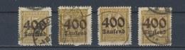 Duitse Rijk/German Empire/Empire Allemand/Deutsche Reich 1923 Mi: 297-300 Yt: 285-288 (Gebr/used/obl/o)(2614) - Duitsland
