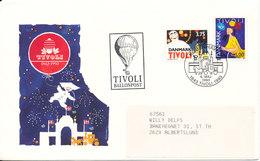 Denmark Ballonpost Tivoli 150th Anniversary 6-5-1993 With Cachet - Denemarken