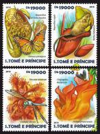 Sao Tome Carnivorous Plants 4v Set MNH Yvert & Tellier:4895-4898 - Sao Tome And Principe
