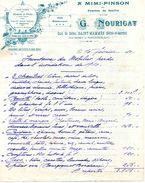 """""""A Mimi Pinson"""", Pension De Famille, Maison NOURIGAT G. Quai De Seine, SAINT-MAMMES, 1910 - Deportes & Turismo"""