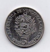 Venezuela - 1990 - 5 Bolivares - Vedi Foto - (MW265) - Venezuela