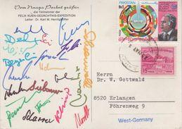 AK Nanga Parbat Felix Kuen Gedächtnis Expedition 1975 Herrligkoffer Himalaya Himalayas Pakistan Unterschrift Signature - Pakistan