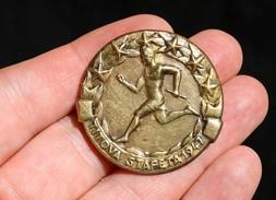 YUGOSLAVIA - TITOS RELAY (TITOVA ŠTAFETA) 1947 Medal BADGE , FREE SHIPPING - Militaria