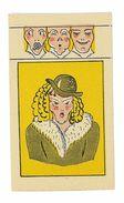 CHROMO IMAGE CHOCOLAT REVILLON A TIRETTE ILLUSTRATION FEMME AU CHAPEAU - Revillon