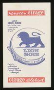 Buvard - Cirage ECLATANT - LION NOIR - Buvards, Protège-cahiers Illustrés