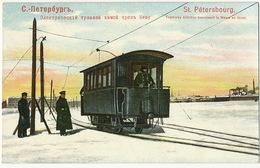 Edit Pfister St Petersbourg Tramway Electrique Traversant La Newa En Hiver Tram - Russia