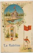 Pub La Kabiline Teinture Kabyle Kabylie Palais Turquie Exposition Paris 1900 Dechirure 3 Mm En Bas - Turquie