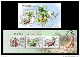 North Korea 2016 Mih. 6305/07 Flora. Medicinal Plants (booklet) MNH ** - Korea, North