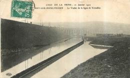 ISSY LES MOULINEAUX  CRUE DE SEINE 1910  LE VIADUC DE LA LIGNE DE VERSAILLES - Issy Les Moulineaux