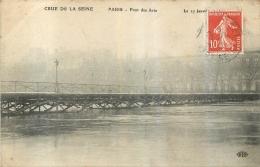 PARIS GRANDE CRUE DE SEINE 1910  PONT DES ARTS - Überschwemmung 1910