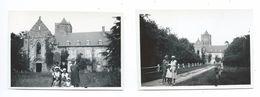 Lot De 2 Anciennes PHOTOS 9 X 6,5 Cm Années 1950... Abbaye De LA LUCERNE ( Manche 50) - Places