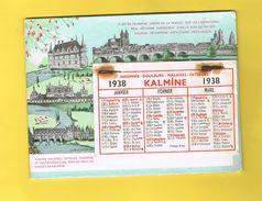 CALENDRIER CARTONNE A FEUILLES.  1938  KALMINE. LABORATOIRES PAUL METADIER. - Calendriers