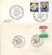 23714 Italia  2 Special Postmark 1983 + 1990 Columbus,coulomb. Colon, Colombo - Cristoforo Colombo