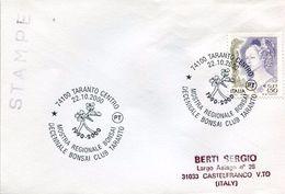 23721 Italia  Special Postmark 2000 Taranto  Bonsai Club, Bonsai Exhibition - Plants