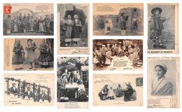Lot De 10 CPA De France - Les Chansons De Jean Rameau Illustrées - Scènes Et Types - France