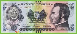 Voyo HONDURAS 5 Lempiras 2014 P99/NEW  Prefix BL UNC - Honduras