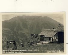 CARTE  PHOTO : SESSEL-LIFT-BERGSTATION & GASTHAUS  GRABS 1460 M    TSCHAGGUNS,  VORARLBERG - Autriche