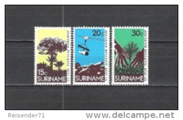 Suriname 1972 Wirtschaft Forstwirtschaft Holzgewinnung Wald Wälder Forrest Holz Wood Aufforstung Urwald, Mi. 643-5 ** - Suriname