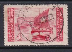 Istria Yugoslav Occupation S 56 1946 4 L Red Used - Yugoslavian Occ.: Trieste