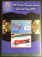 Dominica 2002 Winter Olympics Minisheet MH - Dominique (1978-...)