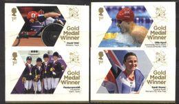 GREAT BRITAIN, 2012, OLYMOICS, GOLD MEDAL WINNERS, YV#3741-44, MNH - 1952-.... (Elizabeth II)