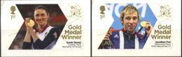 GREAT BRITAIN, 2012, OLYMOICS, GOLD MEDAL WINNERS, YV#3720-21, MNH - 1952-.... (Elizabeth II)