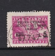 Istria Yugoslav Occupation S 71 1947 Overprinted 5 Lira On 9d Pink Used - Occ. Yougoslave: Littoral Slovène