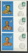 Germany 1975 Space, Slayton, Stafford, Brand, Kubasov, Leonov 5 Commemorative Postcards - Lettres & Documents
