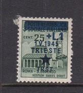 Venezia Giulia And Istria 1945 Yugoslav Trieste Occupation S2 1l On 25c Green Mint Hinged - Occ. Yougoslave: Trieste