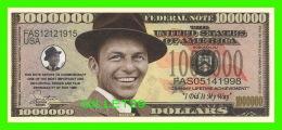 BILLETS , ONE MILLION DOLLARS - FRANK SINATRA  - UNITED STATES OF AMERICA - - Etats-Unis