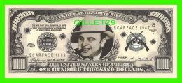 "BILLETS , ONE MILLION DOLLARS - ALPHONSE GABRIEL ""AL CAPONE"" - UNITED STATES OF AMERICA - - Non Classés"