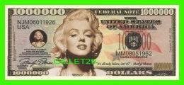BILLETS , ONE MILLION DOLLARS - MARILYN MONROE - UNITED STATES OF AMERICA - - Etats-Unis