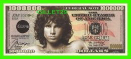 BILLETS , ONE MILLION DOLLARS - JIM MORRISON - UNITED STATES OF AMERICA - - Etats-Unis