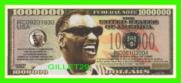 BILLETS , ONE MILLION DOLLARS - RAY CHARLES, ROCK & ROLL HALL OF FAME  - UNITED STATES OF AMERICA - - Non Classés