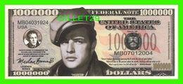 BILLETS , ONE MILLION DOLLARS - MARLON BRANDO - UNITED STATES OF AMERICA - - Etats-Unis