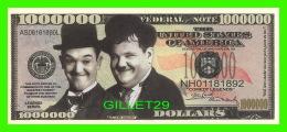 BILLETS , ONE MILLION DOLLARS -  LAUREL & HARDY - UNITED STATES OF AMERICA - - Etats-Unis