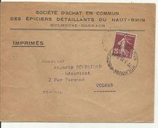 Lettre Oblitération Horoplan Mulhouse Dornach 1935 - Postmark Collection (Covers)